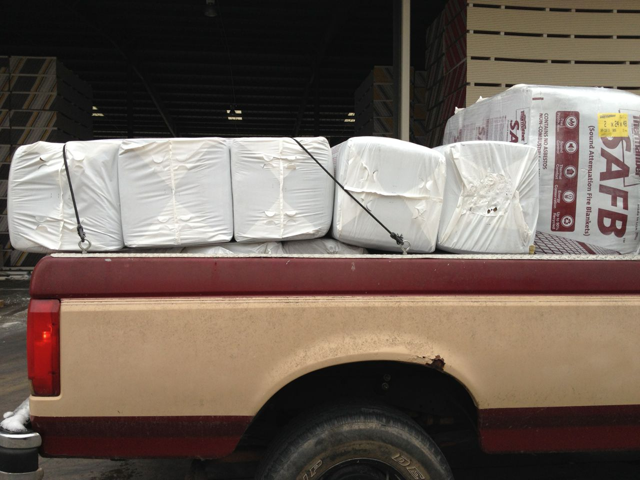 We purchased four bundles of the 2-inch and eight bundles of the 1.5-inch thick insulation.