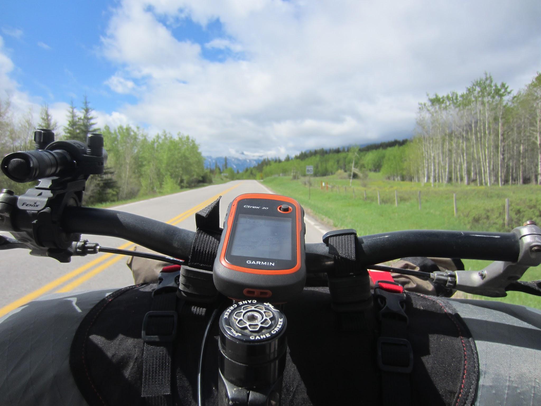 Riding towards Banff.