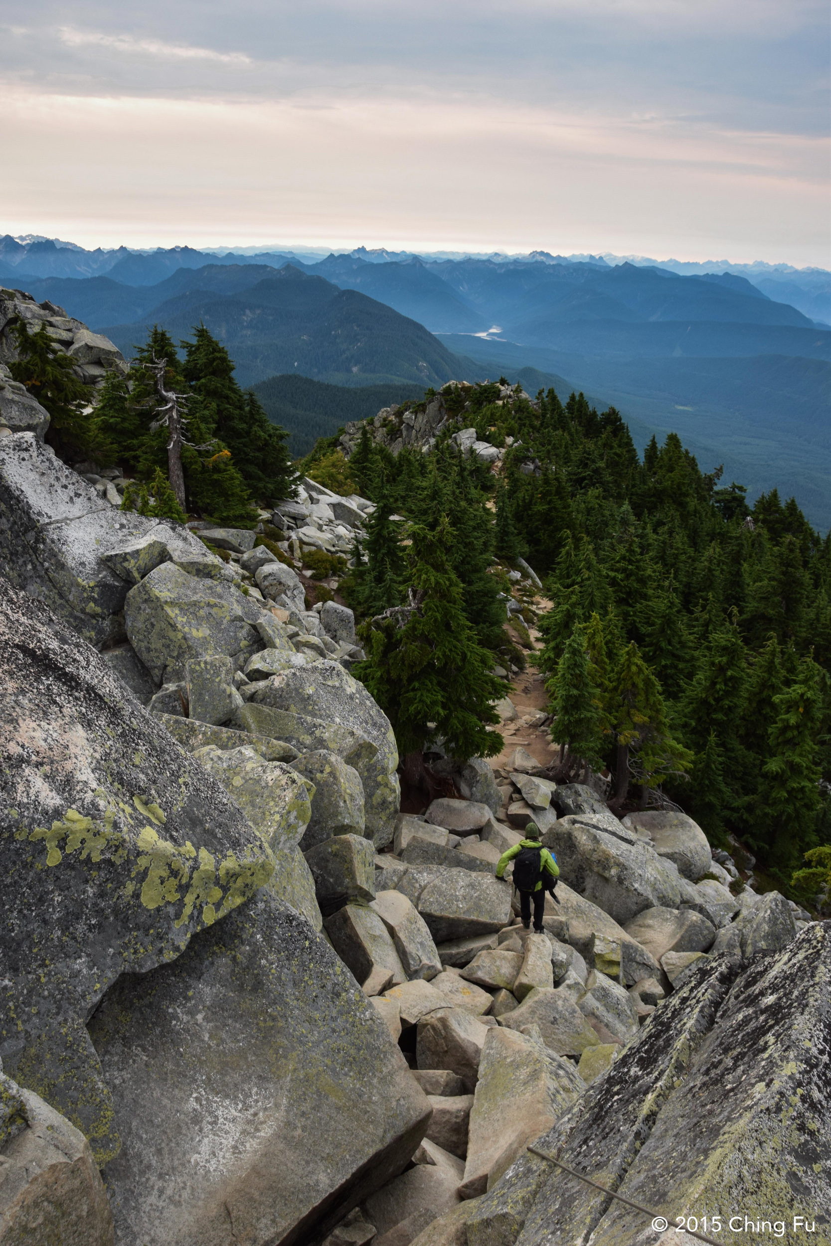 Lots of boulders to hop across at the base of the fire lookout.