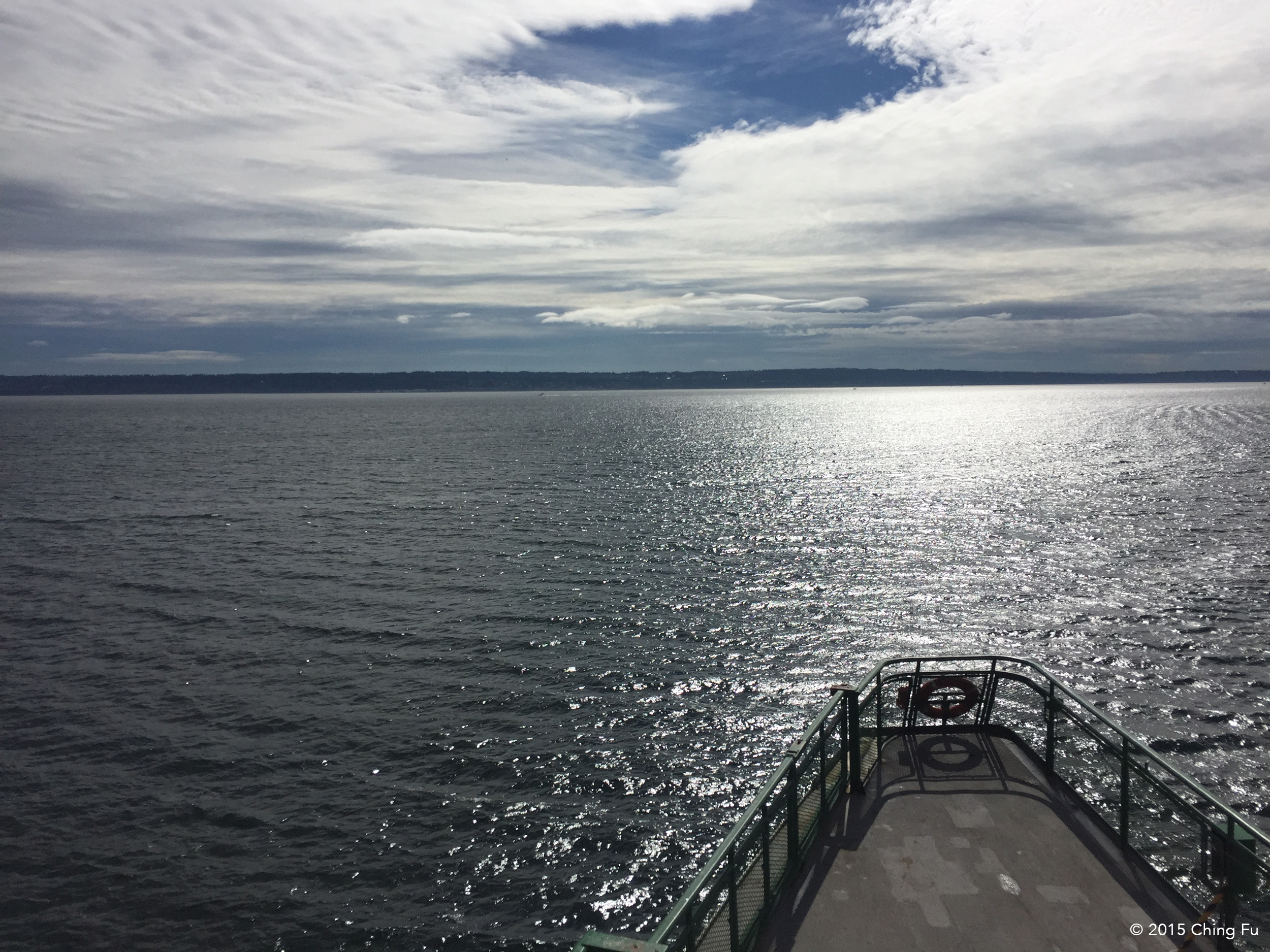 Taking the ferry out to Olympic Peninsula to look at a truck.