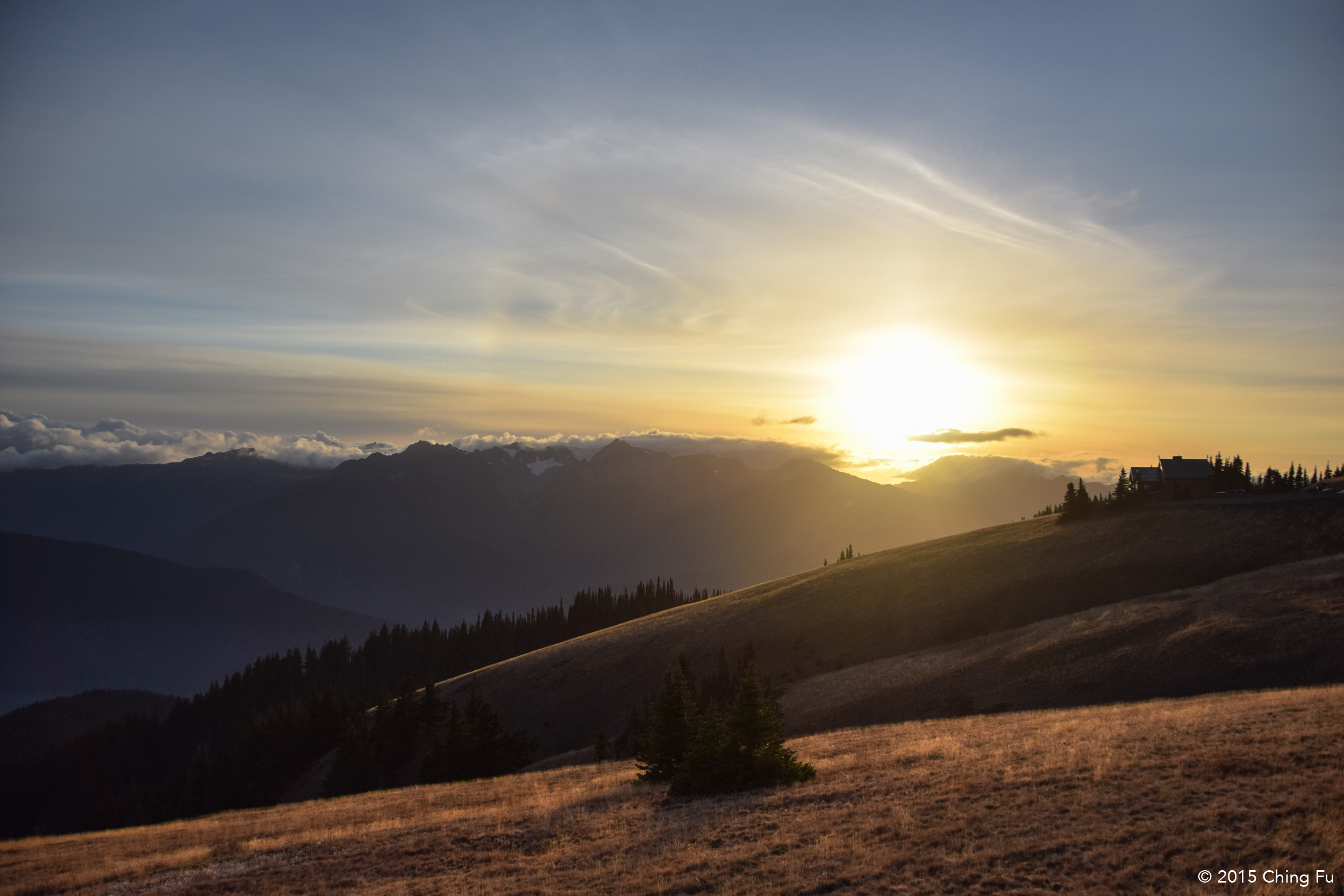 View from Hurricane Hill at sunset.
