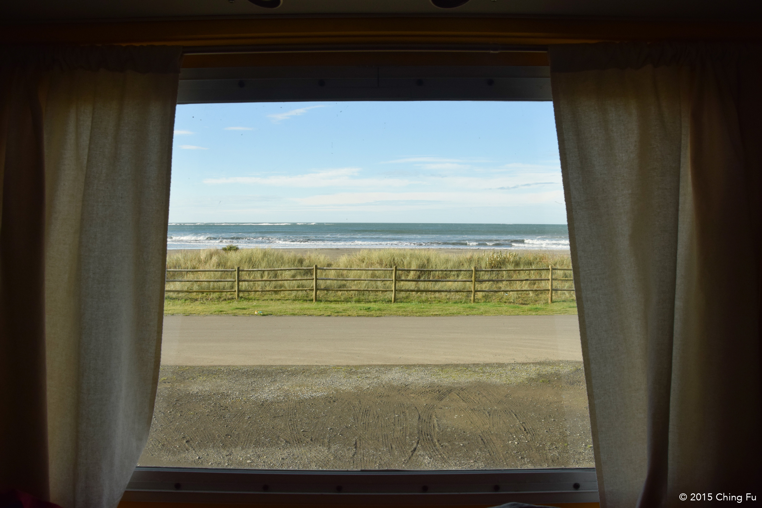 View of Hobuck Beach from our bedroom window.