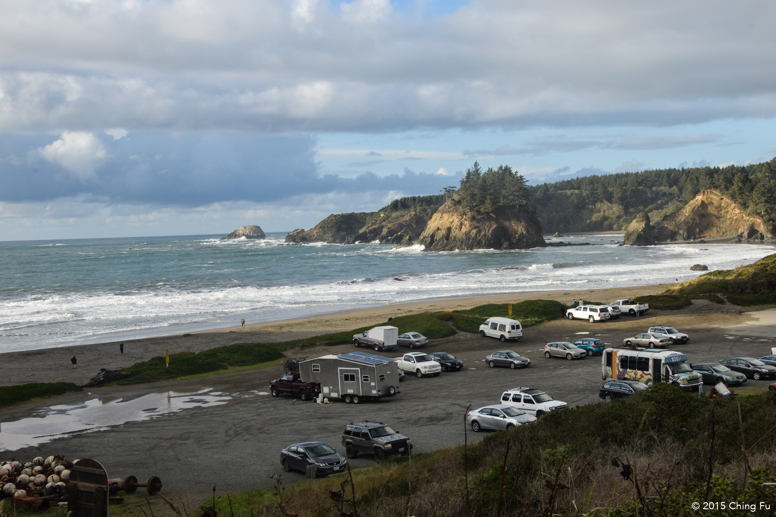 Hanging out at Trinidad Beach.