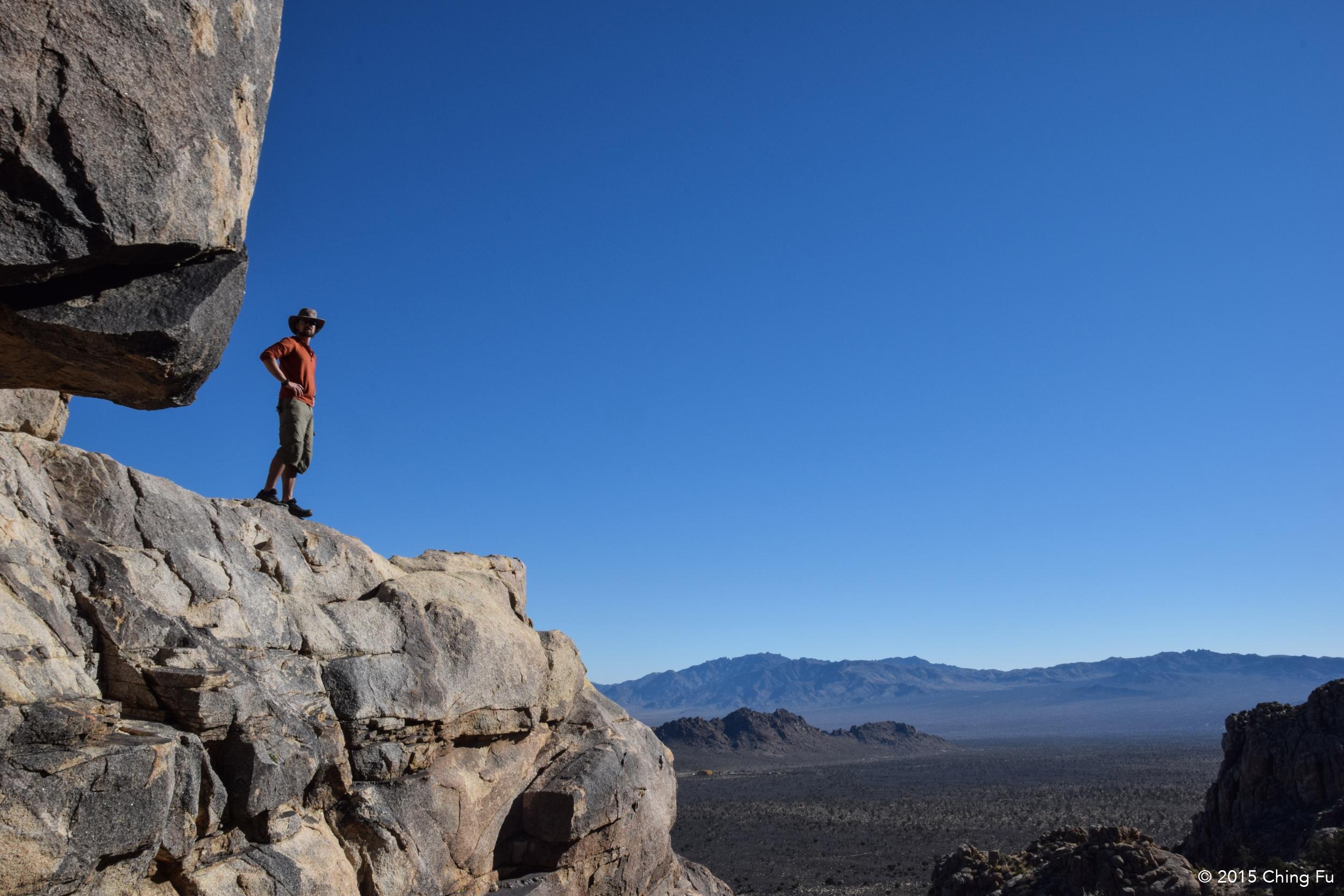 Jerud at the top of Teutonia Peak.