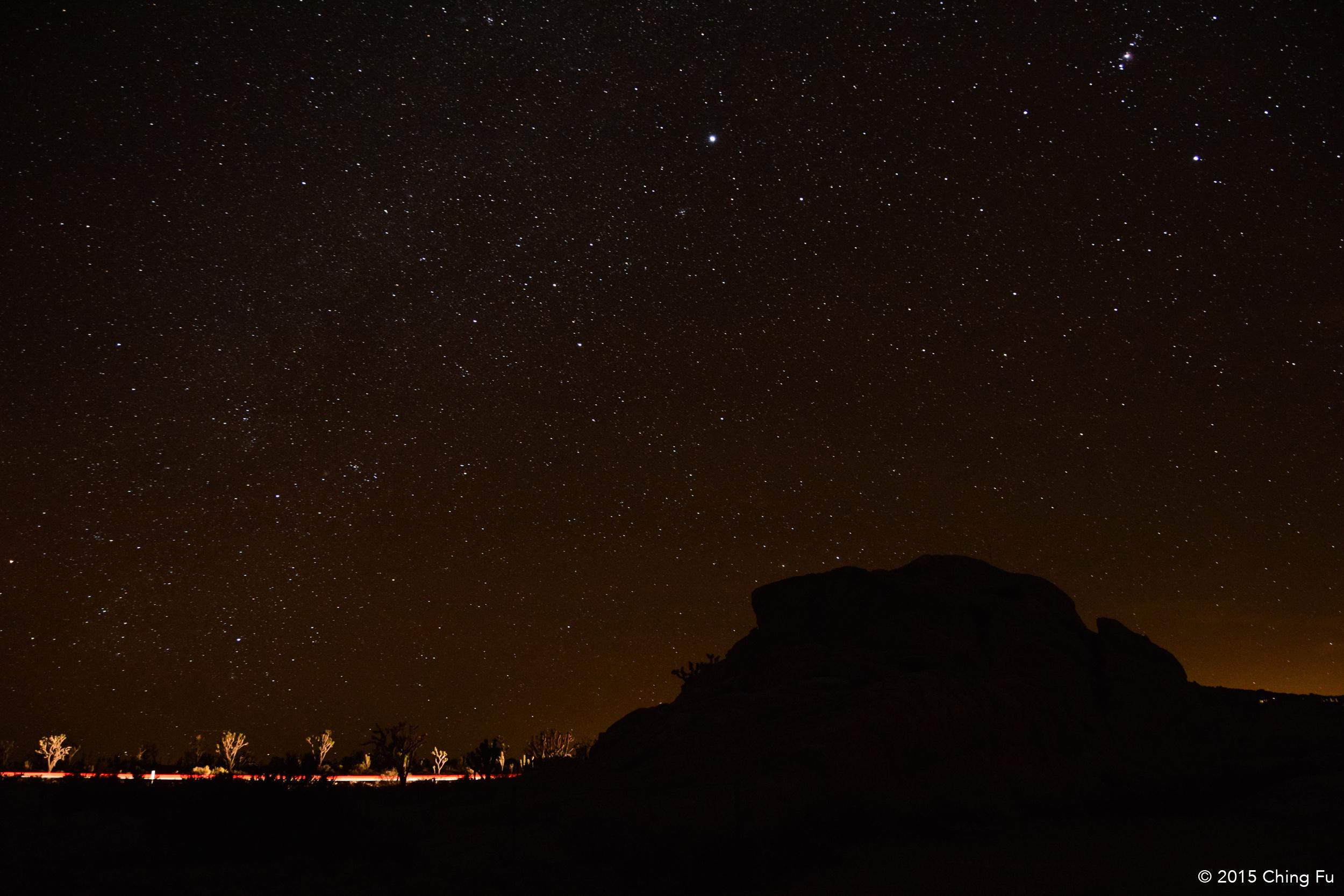 Night sky in Mojave.