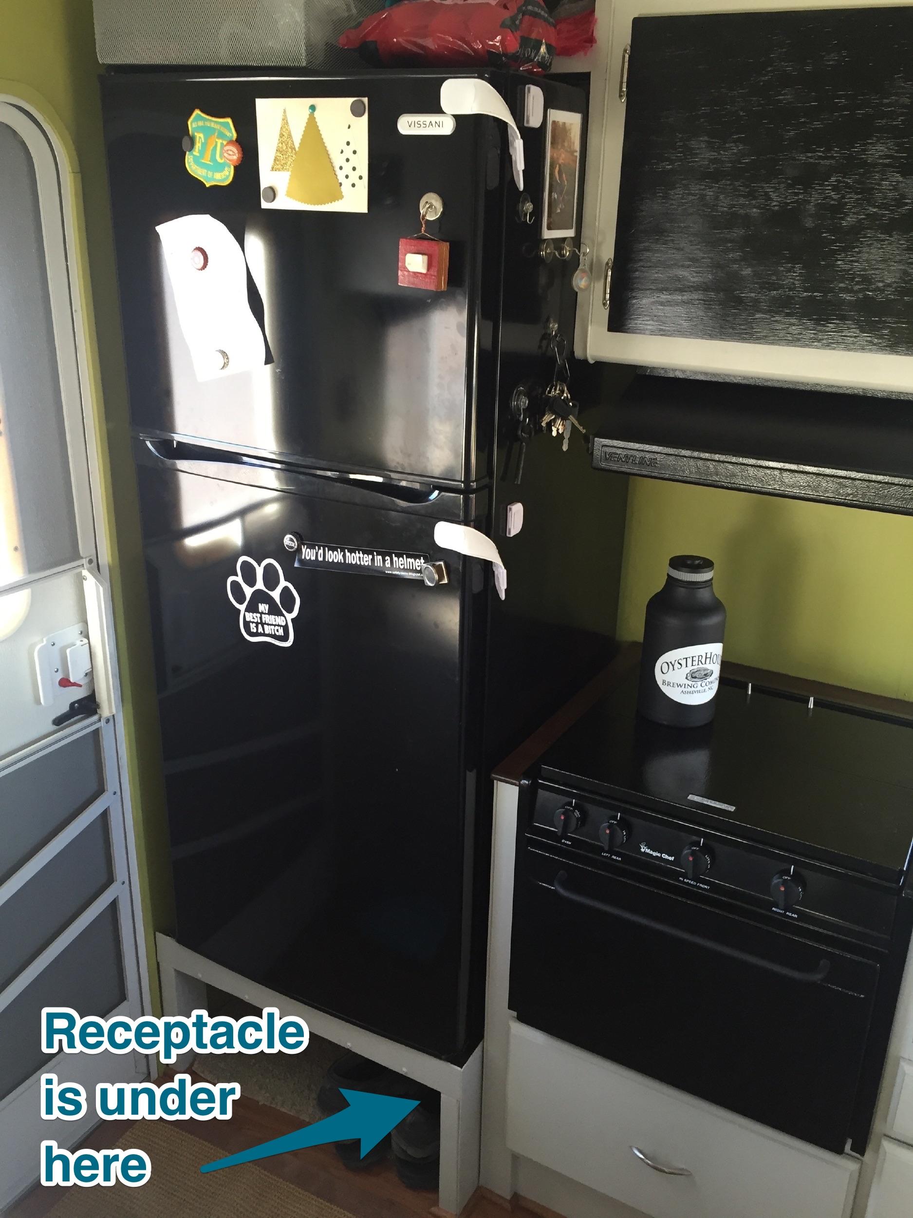 Regular apartment-style fridge