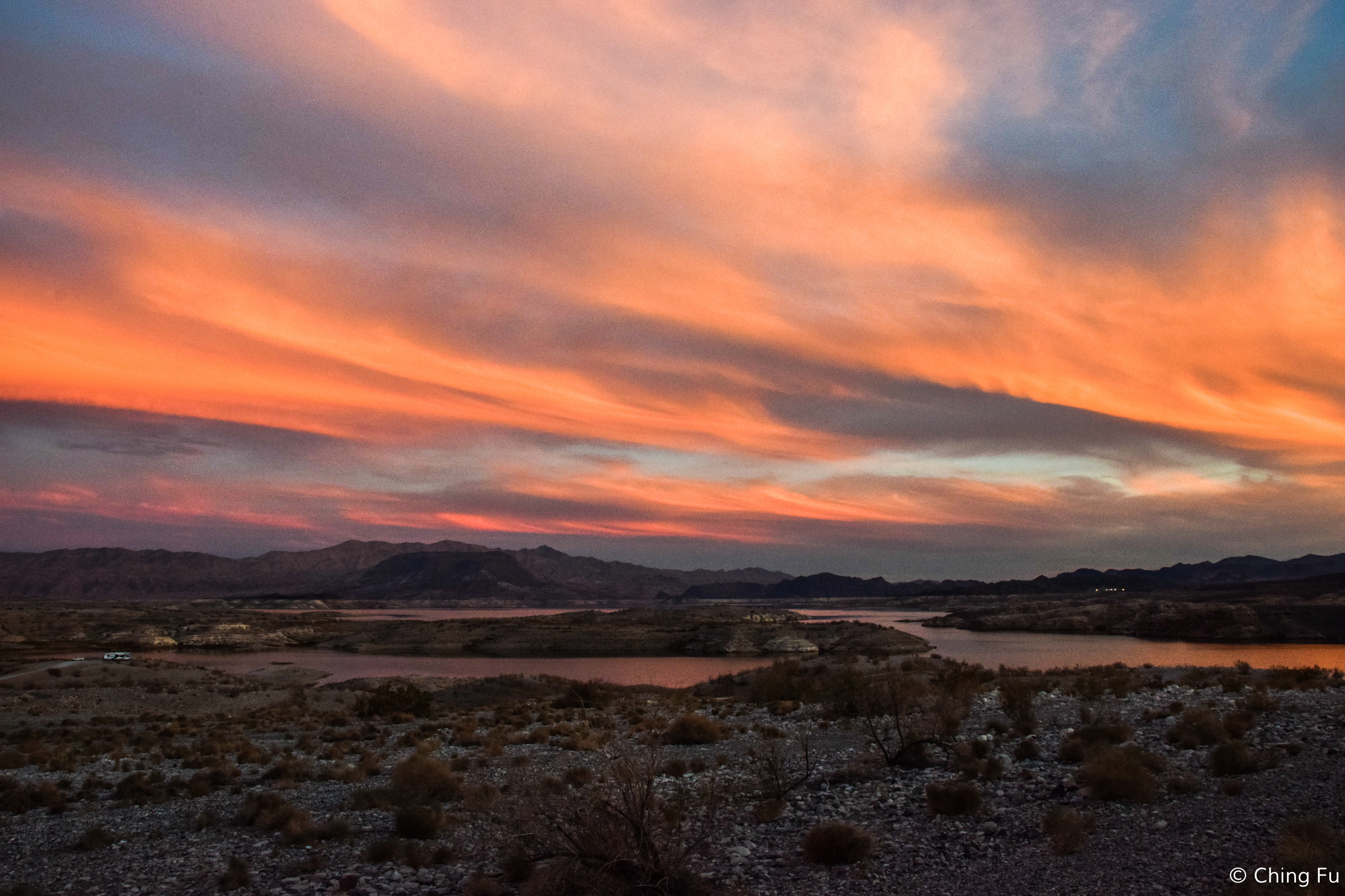 This was the view from our boondocking site at Government Wash.