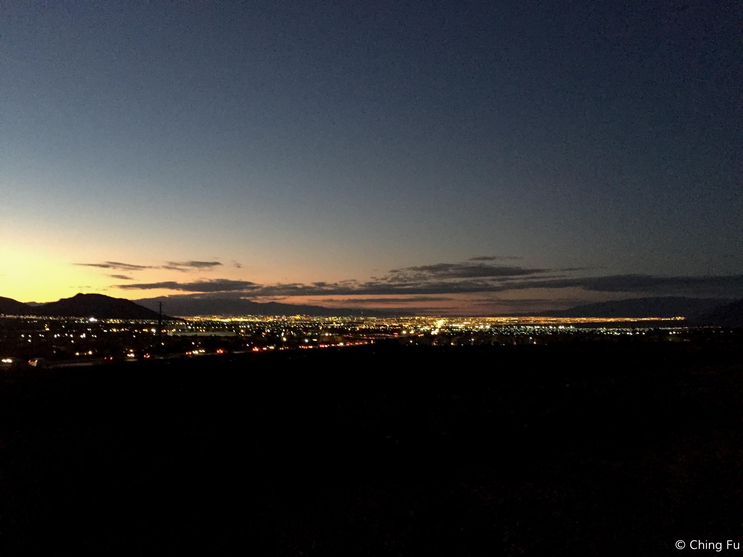 View of Las Vegas from the loop.