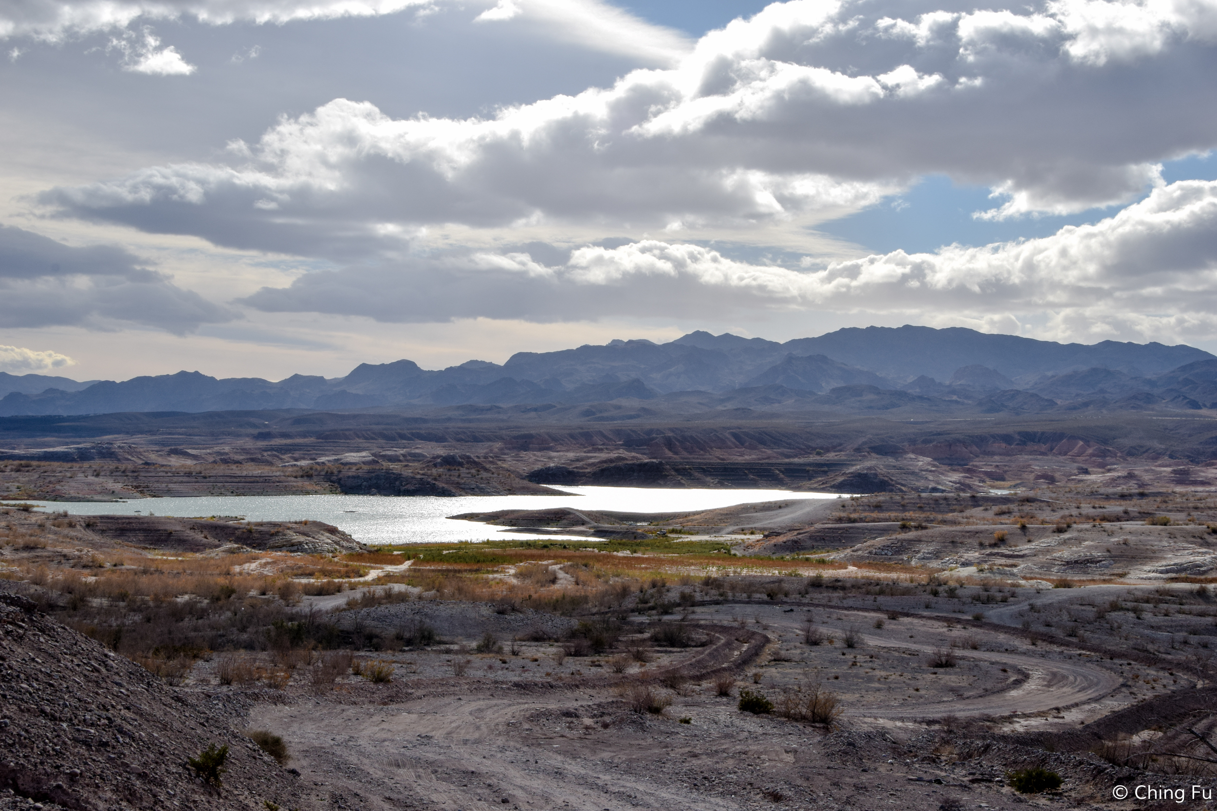 View of Lake Mead from the top of the hill at 8 Mile.