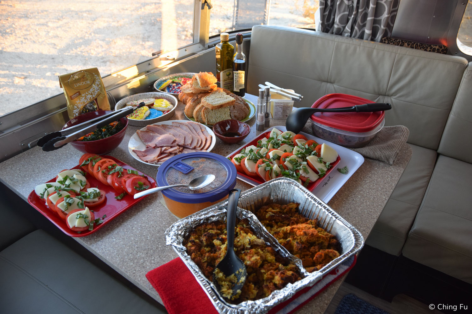 Some of the food that was at the Christmas dinner potluck.