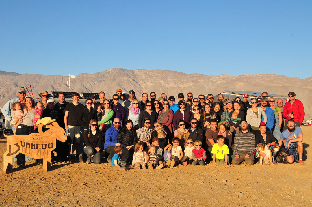 The group at Borrego Springs. Photo by Leigh of Aluminarium.