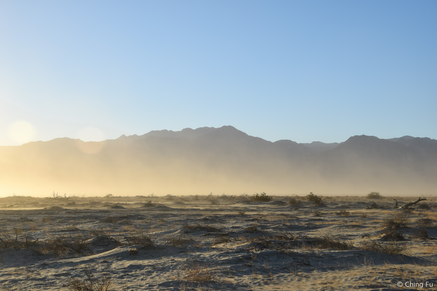 Being that we were in the desert, we did experience a couple of dust storms.