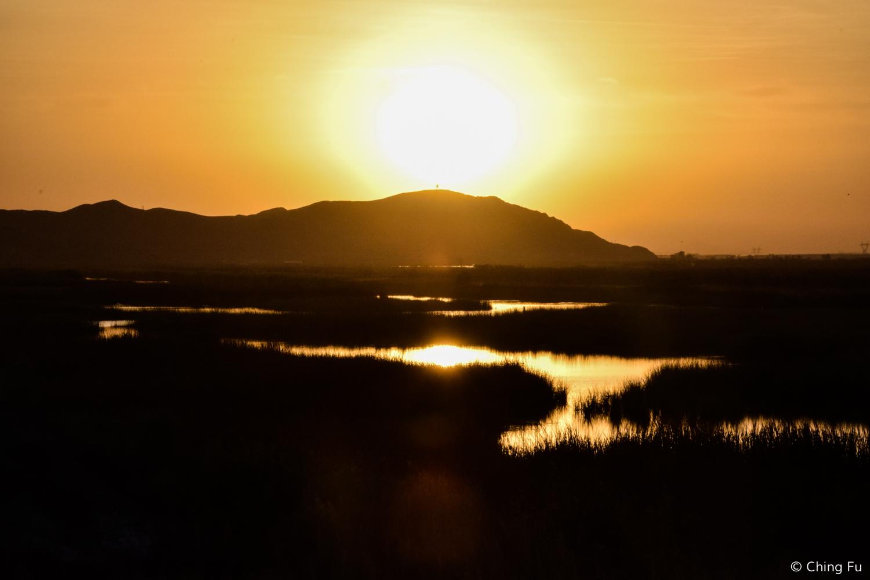 Sunset at Mittry Lake.