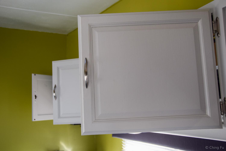 Leaving cabinet doors open.