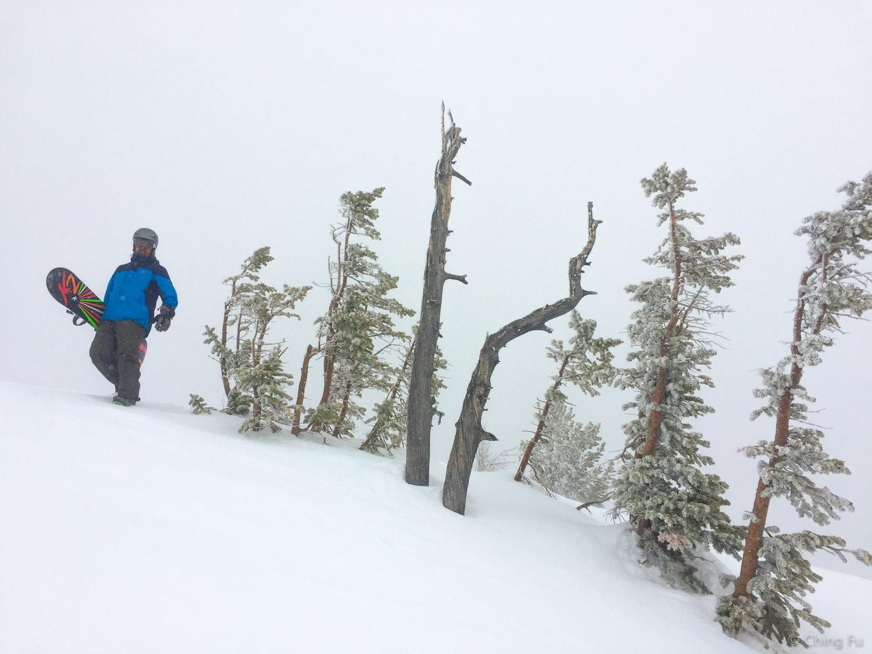 Top of Headwall at Jackson Hole Ski Resort.