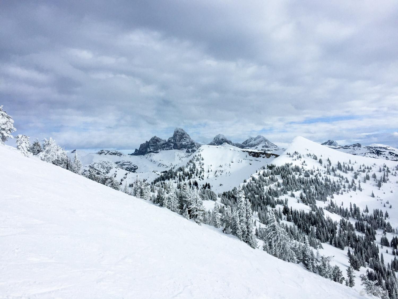 View of the Tetons from Grand Targhee Ski Resort.