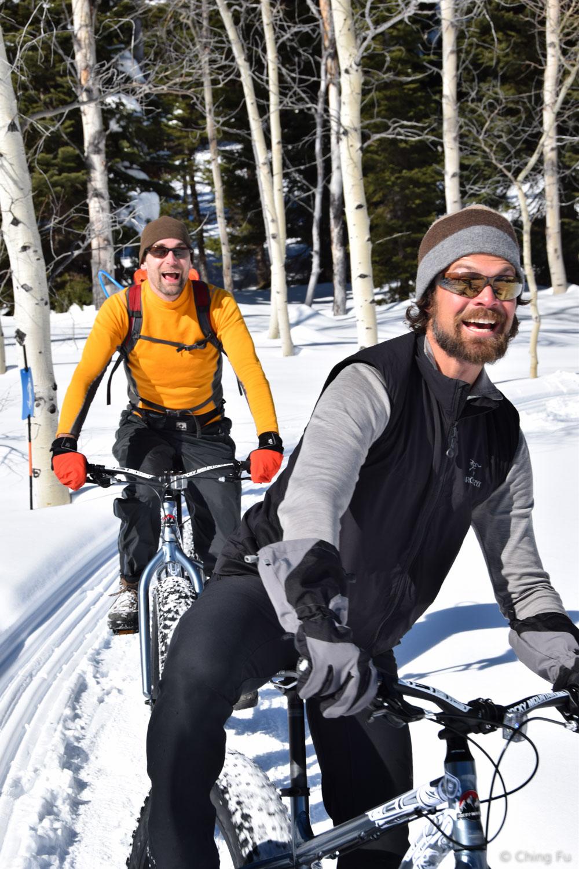 Jerud and Kevin fat biking.
