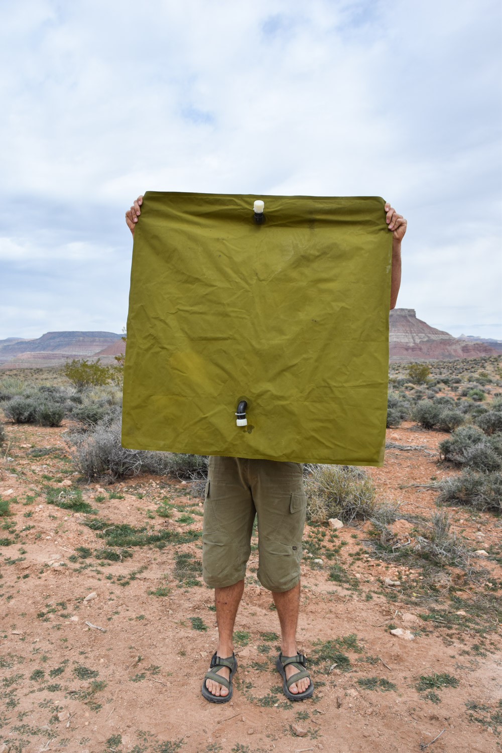 The Aquatank2 30 gallon water bag is 3' x 3' unfolded.