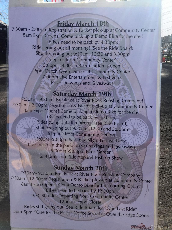 Events happening at Hurricane Mountain Bike Festival.