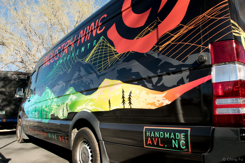 Industry Nine van at Hurricane Mountain Bike Festival.