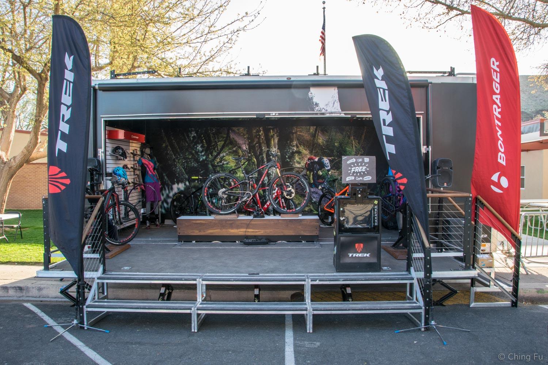 Trek's display at Hurricane Mountain Bike Festival.