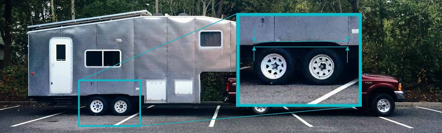 This would normally be considered a perfectly-level trailer, but not in our case.