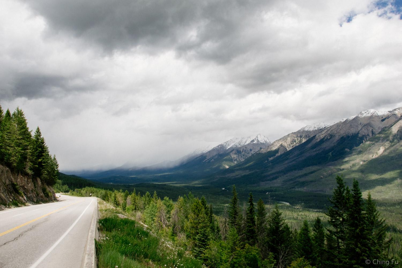 An overlook in Kootenay National Park.