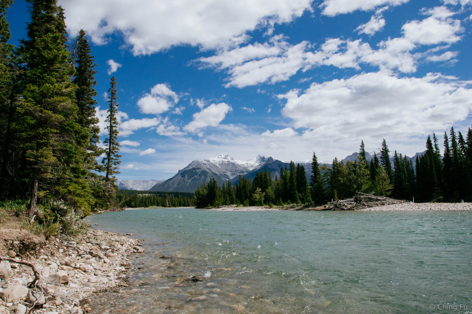 Ride down to the Bow River.