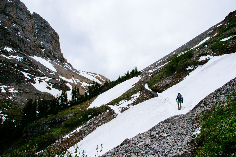 Hiking up to Harvey Pass.