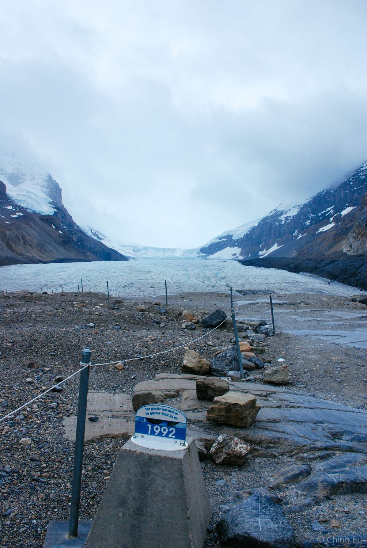 Toe of Athabasca Glacier hike, Jasper National Park.