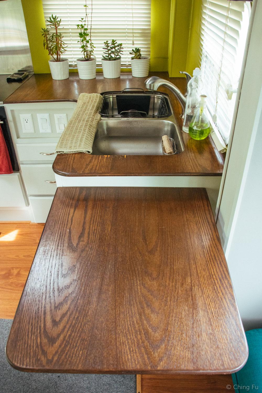 Our kitchen flip up.