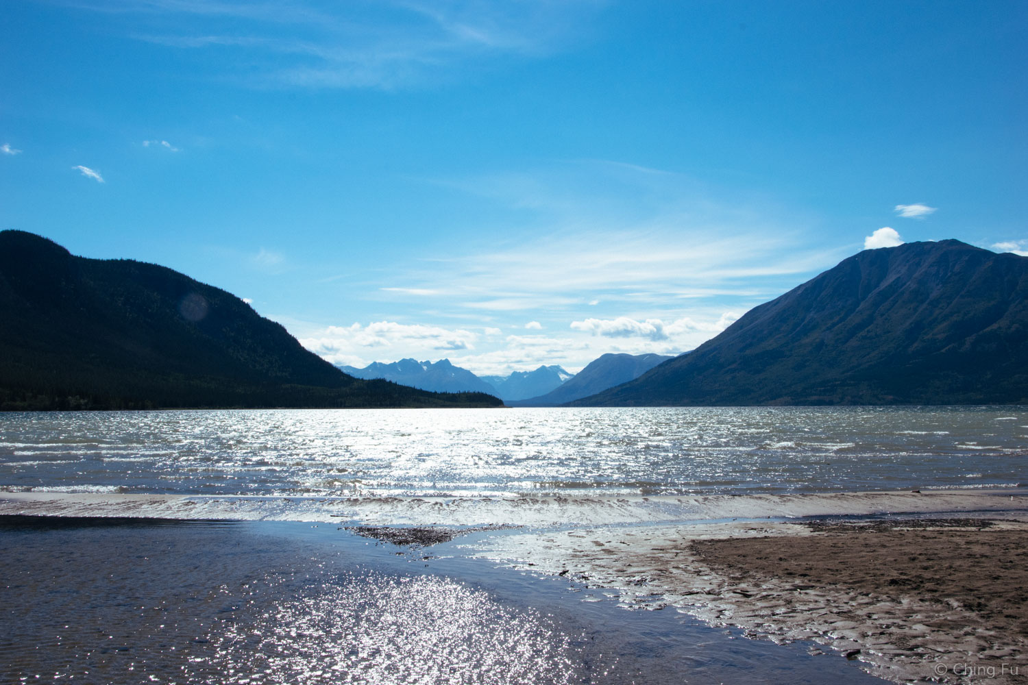 """You can walk to Bennett Lake from """"downtown"""" Carcross."""