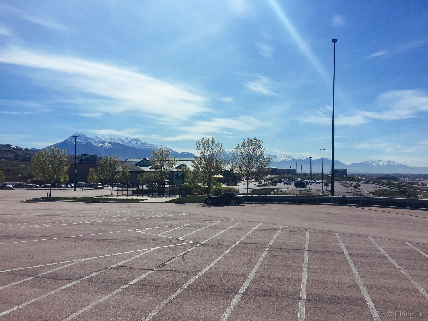 An impressive view from a Cabela's outside Salt Lake City.