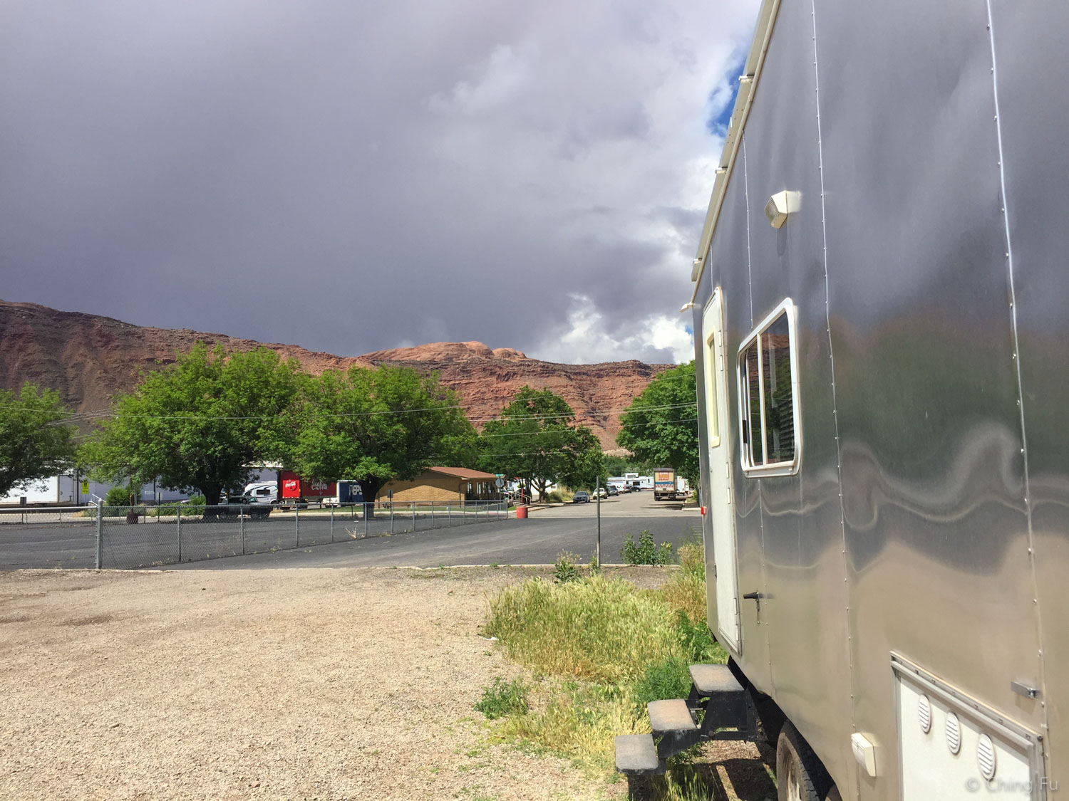 Free camping in downtown Moab.