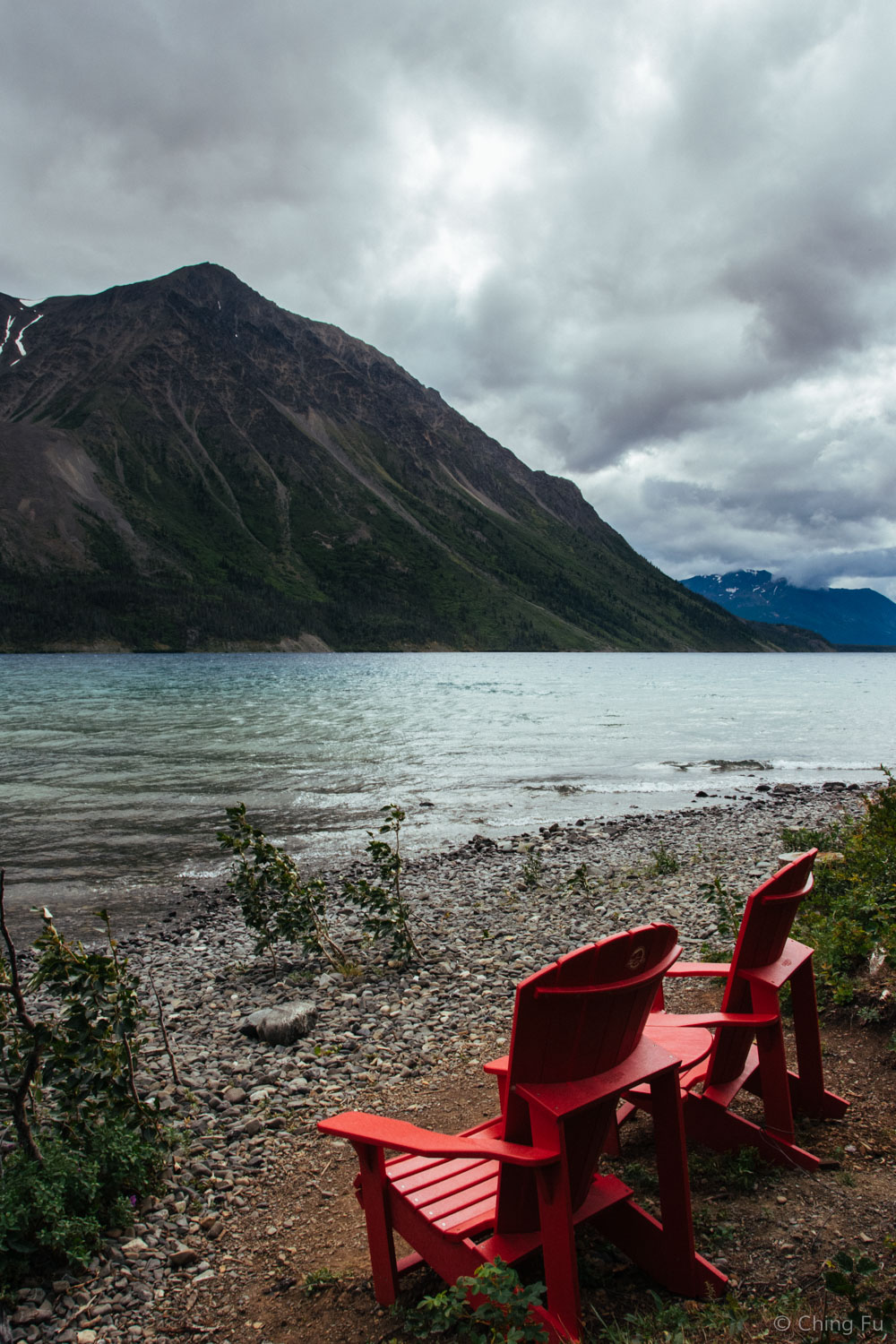 Dark clouds started to roll over Kathleen Lake.