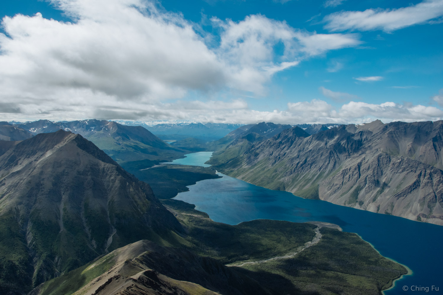View of the interior mountains of Kluane National Park.