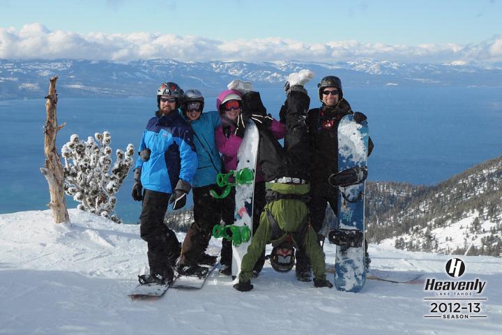 Jerud, Ching, Bri, Andrew & Kevin at Heavenly Ski Resort.