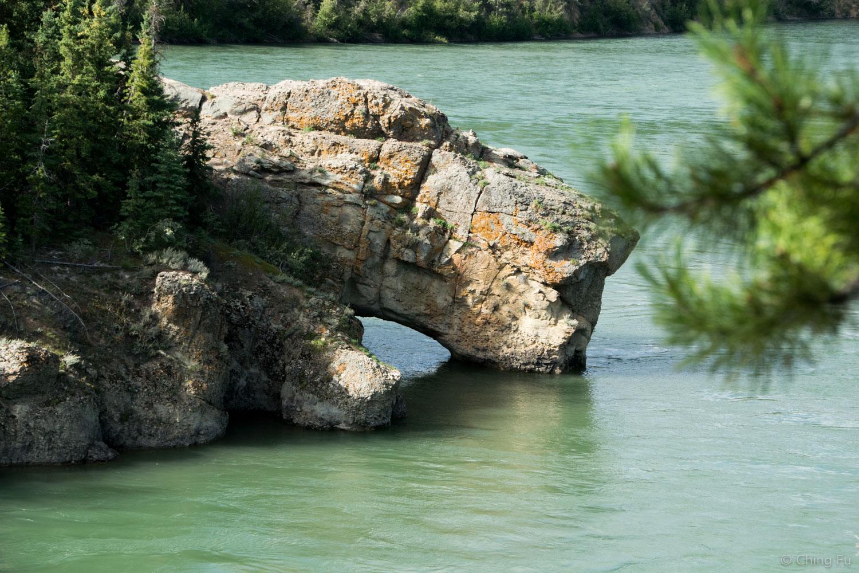Rock formation at Five Finger Rapids.