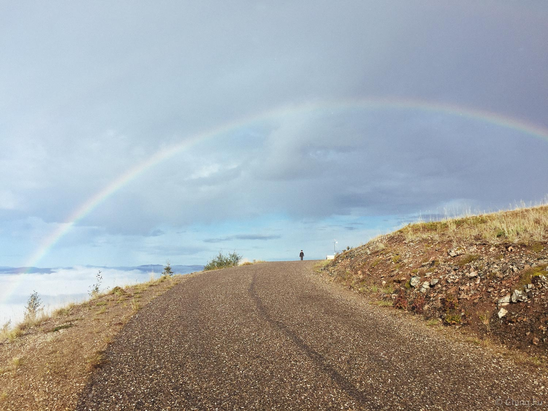 Rainbow over Midnight Dome.