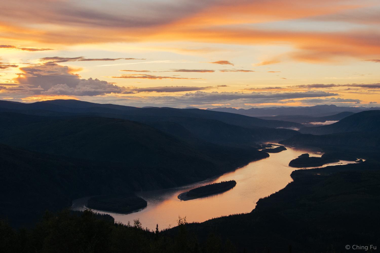 Sunset over the Yukon River.