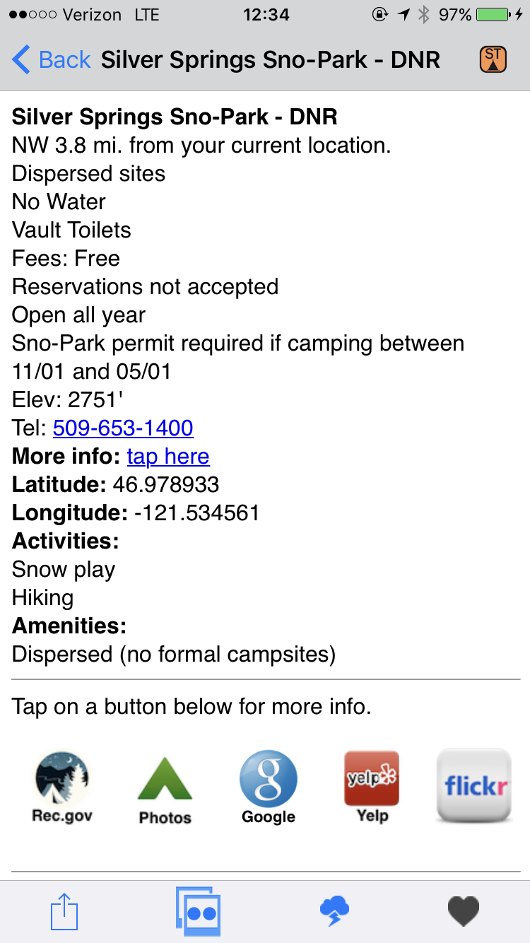 Ultimate Campgrounds campsite details.