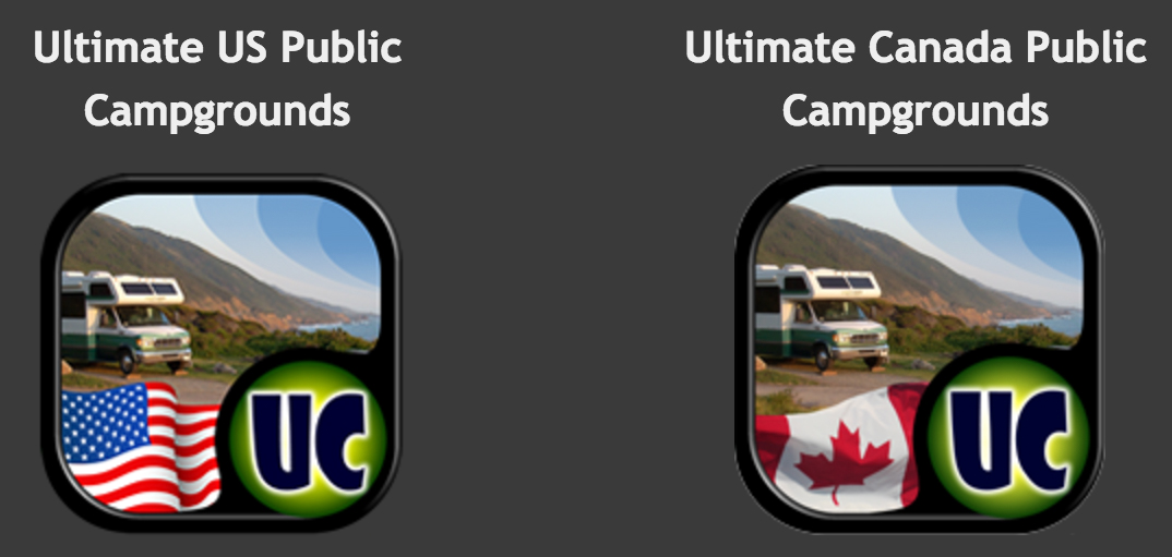 Ultimate Campgrounds U.S. is $3.99 for iPhones and Androids. Ultimate Campgrounds Canada is $1.99 for iPhones and Androids.