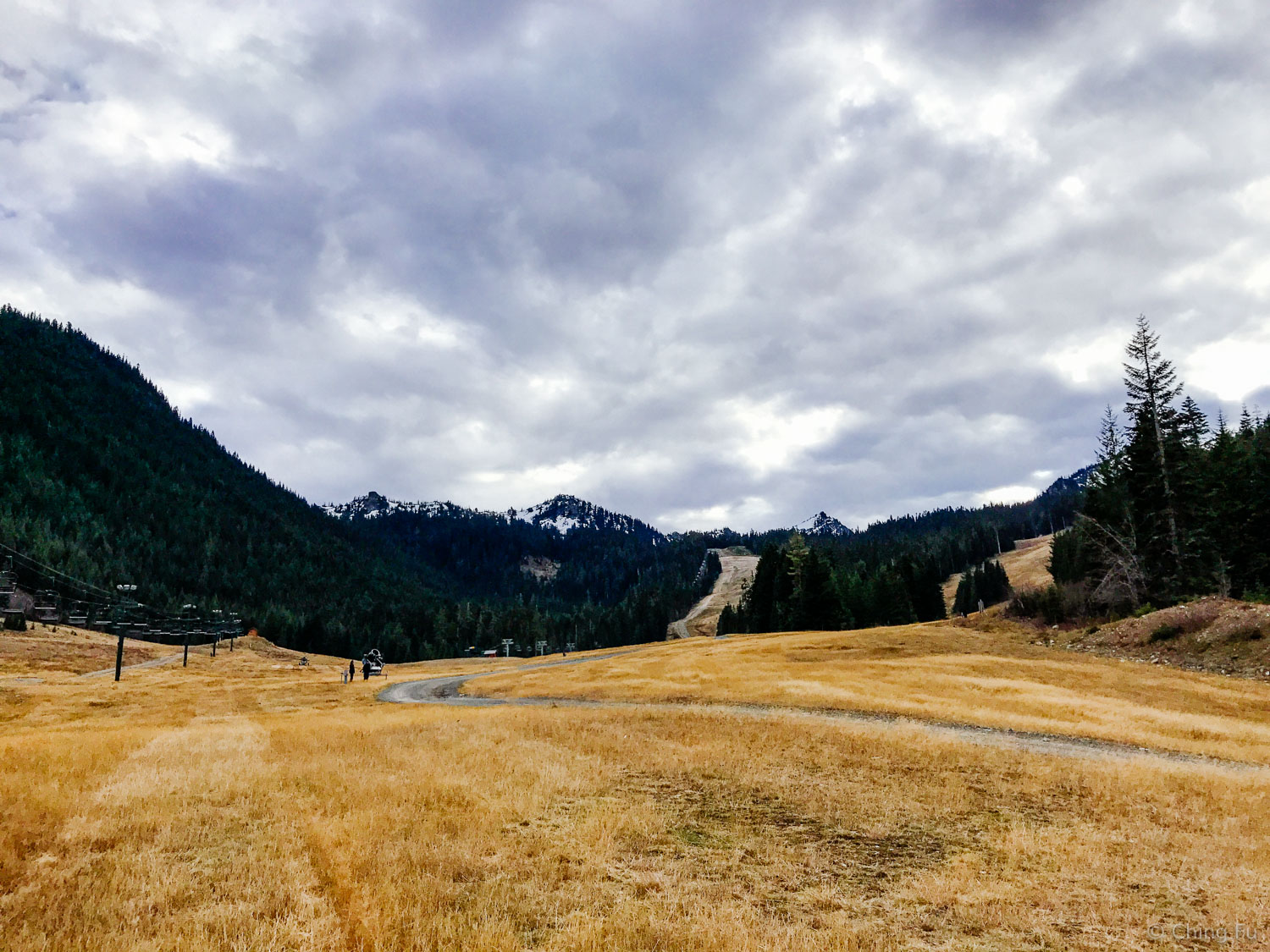 What the ski slopes looked like when we first moved to Crystal Mountain Resort.