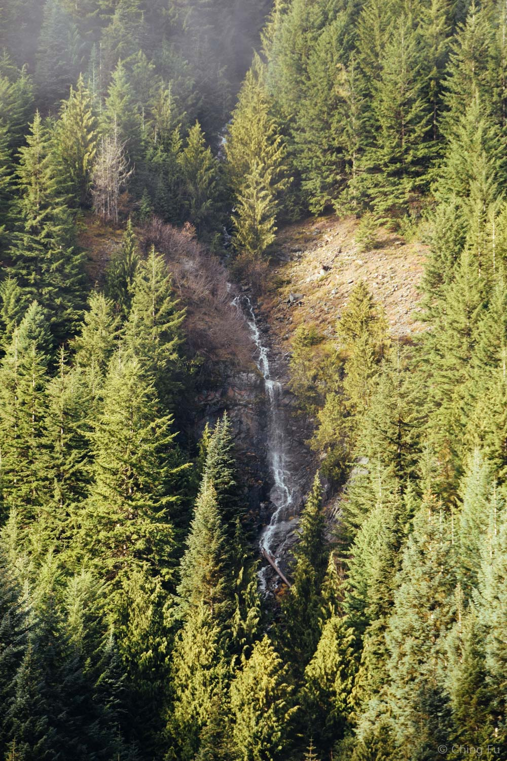 Another view from the resort. This waterfall is right underneath a ski run.