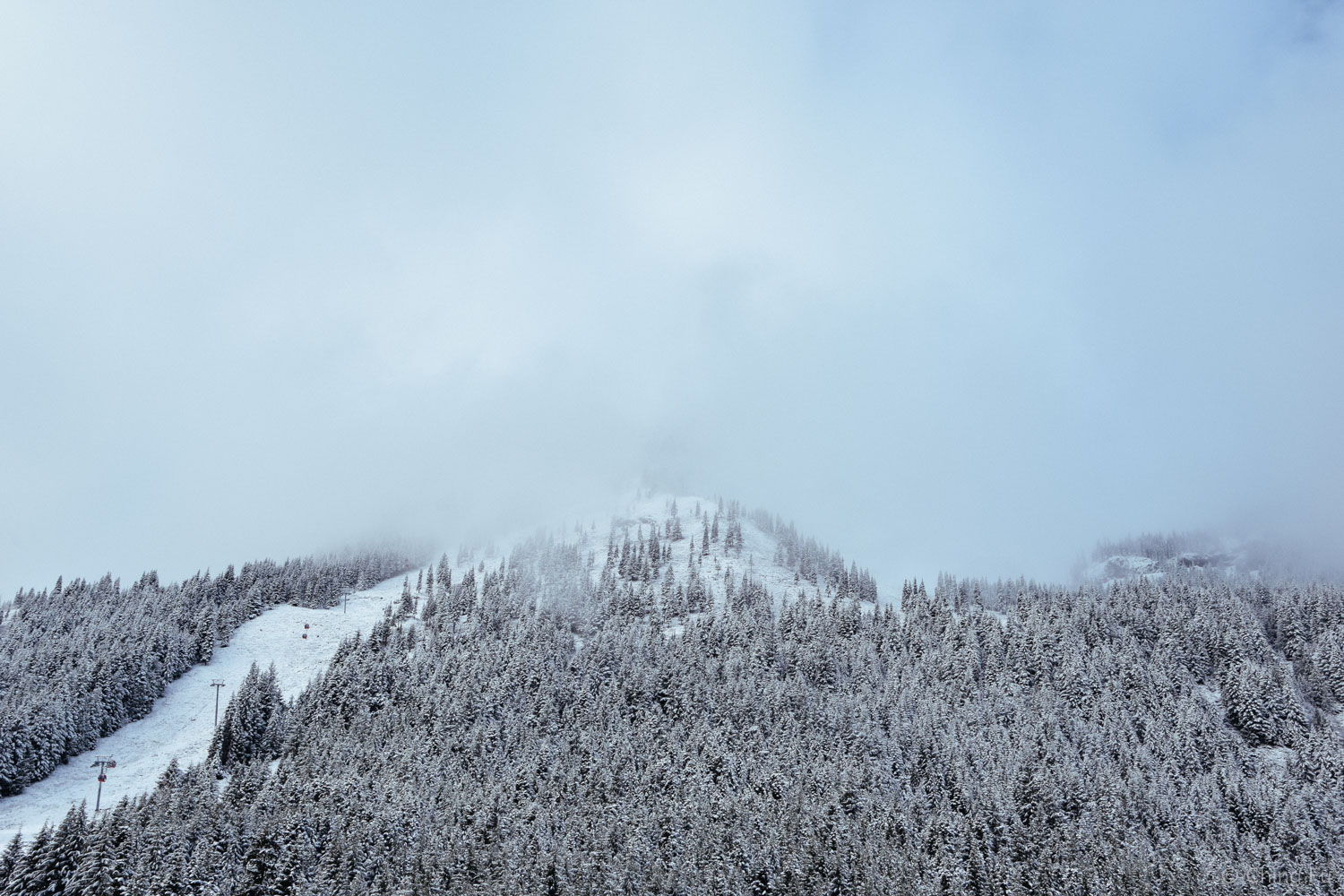 Finally getting snow on the slopes.