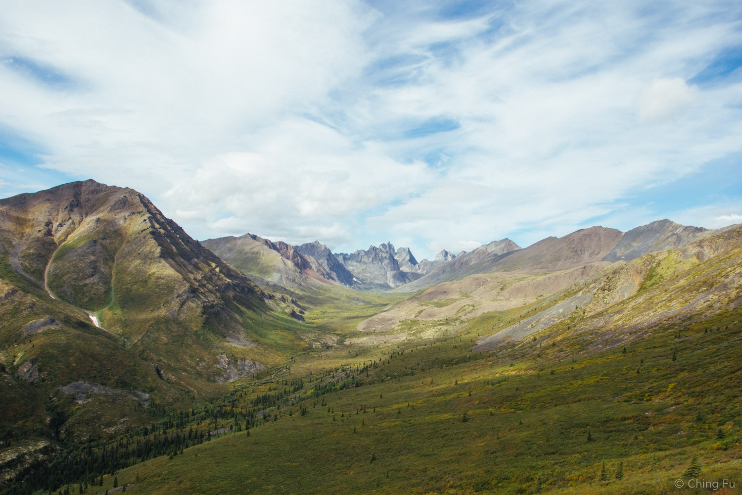 Grizzly Valley and Tombstone Range at the end.