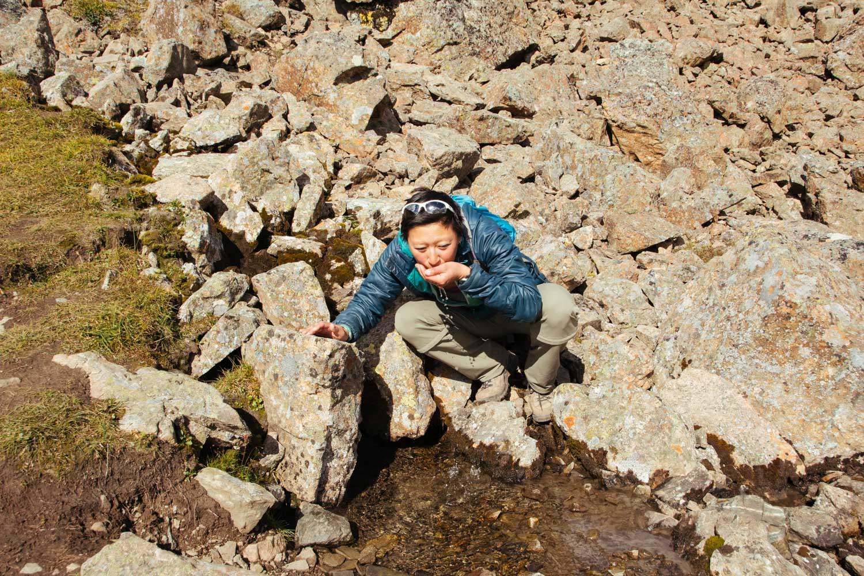 Delicious mountain water.