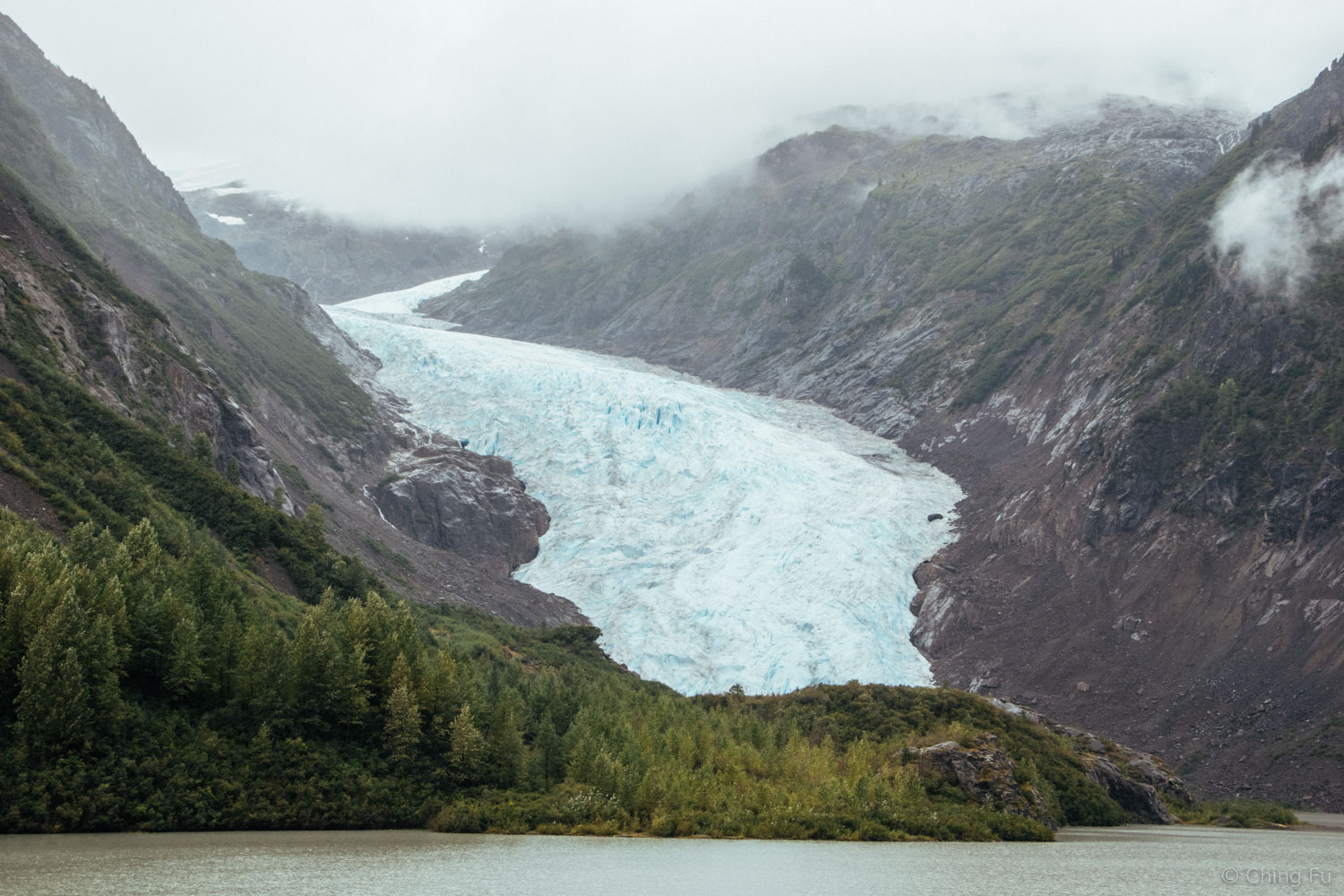 We wanted to paddle out to Bear Glacier but it was raining too hard on our way to Stewart and when we left.