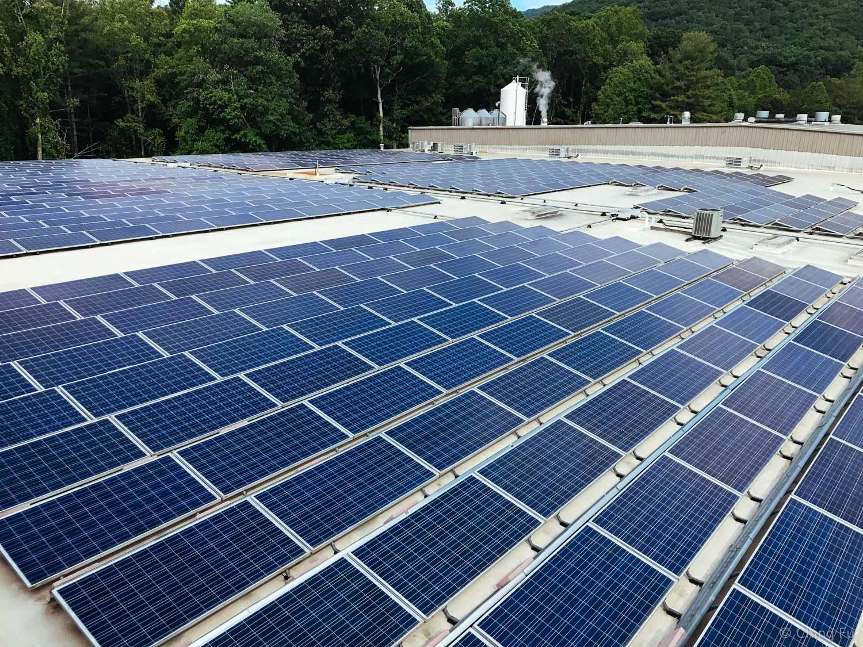 Highland Brewery's solar setup.