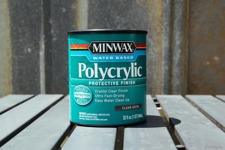 MinWax polycryclic clear satin.